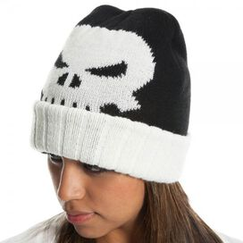 Punisher Skull Ribbed Cuff Beanie
