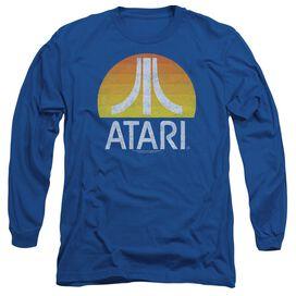 Atari Sunrise Eroded Long Sleeve Adult Royal T-Shirt