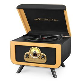 Victrola 5-in-1 Vintage Tabletop Record Player with Bluetooth, CD Player and 3-speed Turntable.