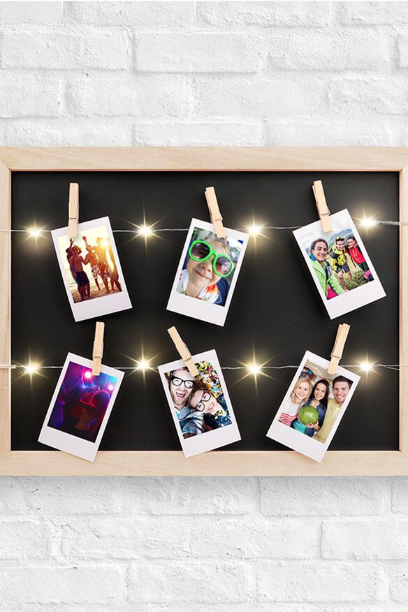 Light Up LED Clip Wood Frame
