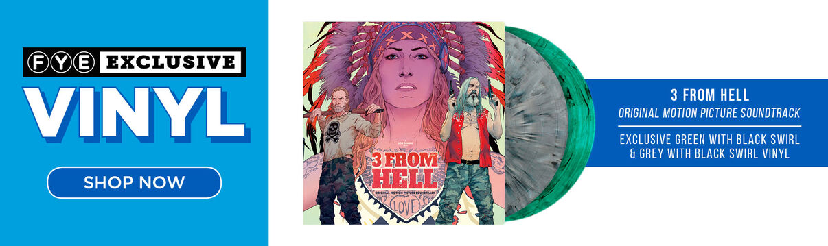 New Exclusive Vinyl: Rob Zombie - 3 From Hell Original Motion Picture Soundtrack [Exclusive Green with Black Swirl & Grey with Black Swirl Vinyl] - Now Available