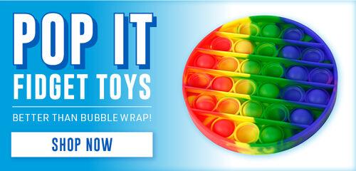 Pop It Fidget Toys!  Better than Bubble Wrap! - Shop Now!