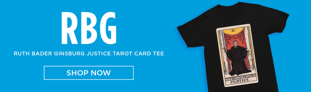 Ruth Bader Ginsburg Justice Tarot Card Tee - Shop Now!