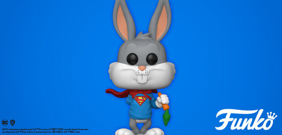 Exclusive Funko Pop Looney Tunes:  Bugs As Superman.  Shop Now!