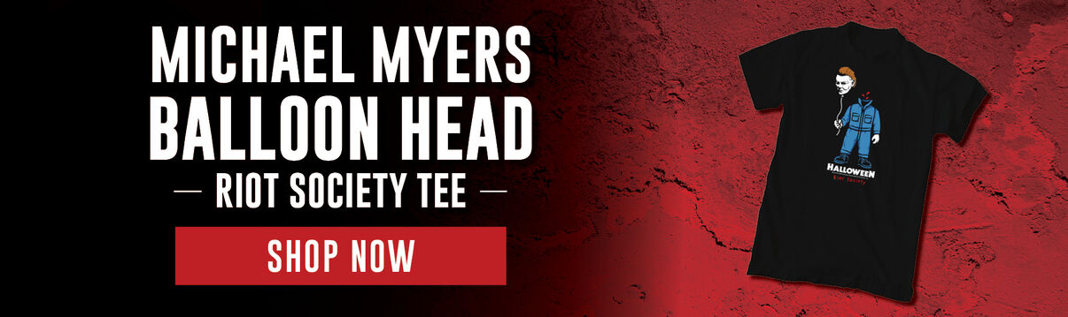 Riot Society Tee Featuring:  Michael Myers Balloon Head Tee - Shop Now!