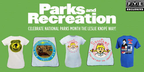 Parks and Recreation - New Merchandise Available