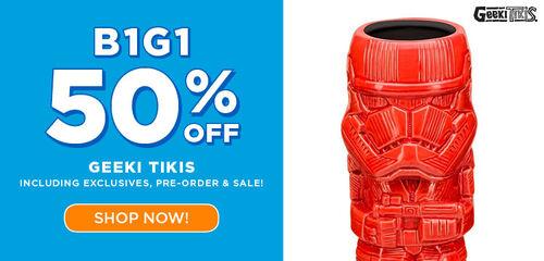 Primary Slider - Geeki Tikis BOGO 50% off