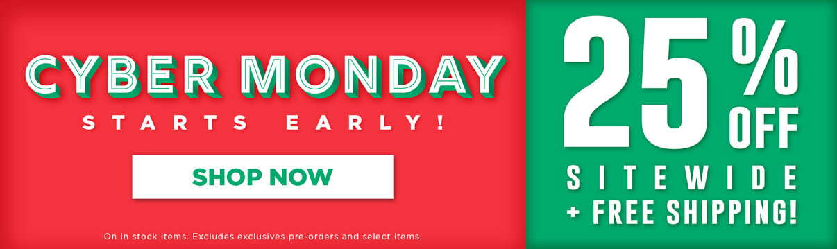 Cyber Sunday Sale! 25% off sitewide + Free Shipping - Shop Now!