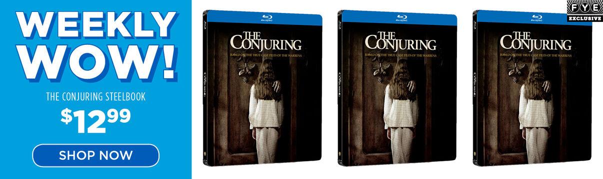 Weekly wow: Conjuring [Exclusive Steelbook] - $12.99