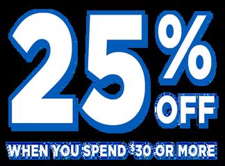 Primary Slider - Spend $30, Get 25% off