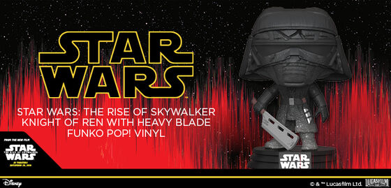 Exclusive Funko Pop Star Wars Ep. 9 - Knight of Ren (heavy blade) - Now available