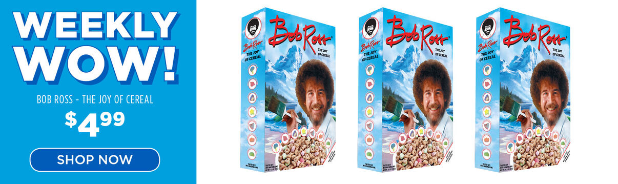 Weekly wow: Bob Ross The Joy Of Cereal - $4.99