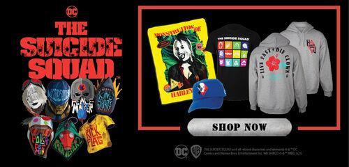 The Suicide Squad Accessories, Apparel & More!  Shop Now!