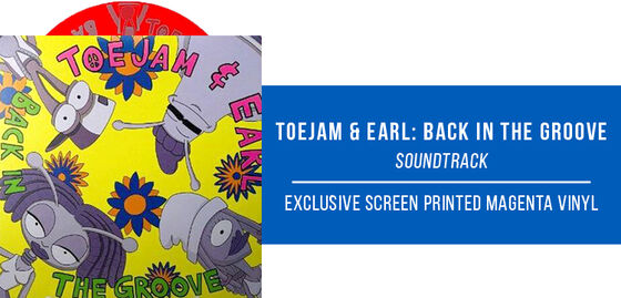 Exclusive Vinyl: Cody Wright & Nick Stubblefield - ToeJam & Earl: Back in the Groove! Soundtrack [Exclusive 2LP with screen printed D side on Magenta Vinyl]