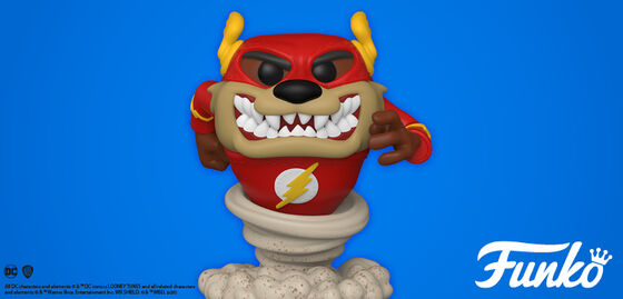 Exclusive Funko Pop Looney Tunes:  Taz As Flash.  Shop Now!