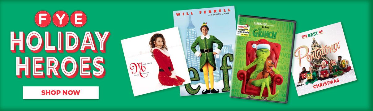 FYE Holiday Heroes Movies & Music!  Shop Now!