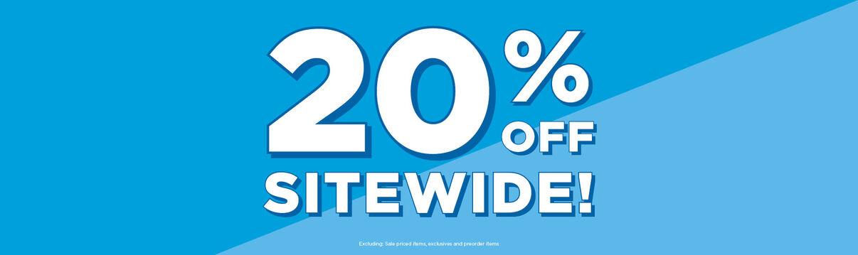 Primary Slider Offer: 20% off sitewide