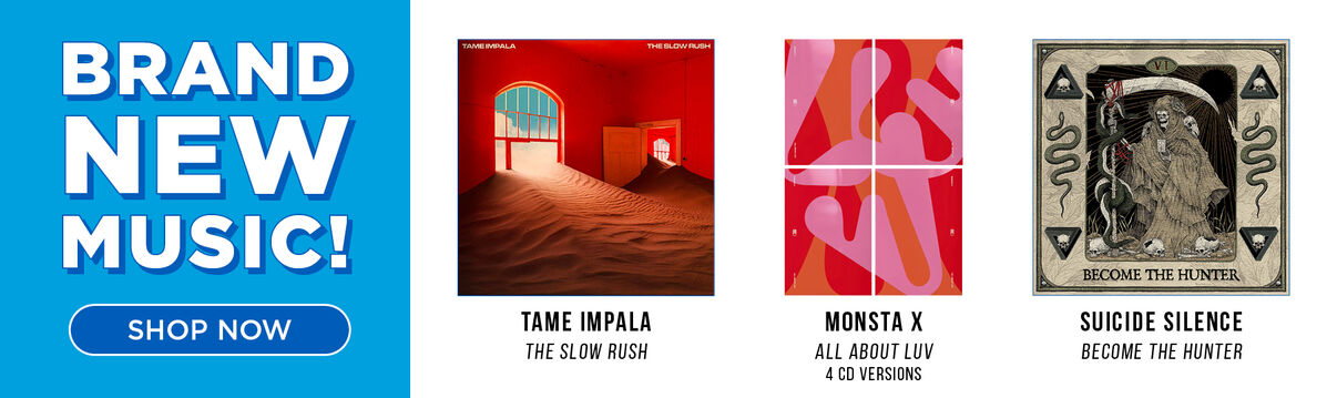 New CD Releases Now Available (featuring: Tame Impala - The Slow Rush; Monsta X/All About Luv - Deluxe Photo Books & Suicide Silence - Become The Hunter)