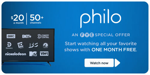 Get your Free one Month Trial for Philo!