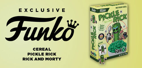 primary slider - Exclusive Funko's Cereal Pickle Rick