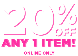 20% off any 1 item offer valid 1/15/19 through 1/17/19 eastern standard time online only exclusions apply