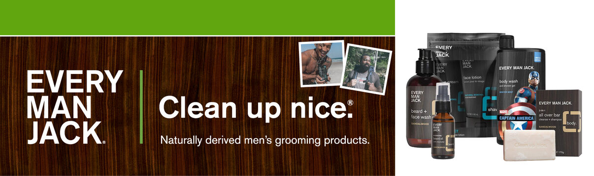 Everyman Jack:  Clean up nice!  Naturally derived men's grooming products!  Shop Now!