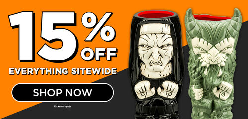 15% off Everything Sitewide. Featuring Horror Geeki Tikis - Shop Now!