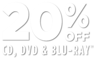 20% off CD/DVD/Blu-ray offer valid 1/21/19 through 1/24/19 eastern standard time online only exclusions apply