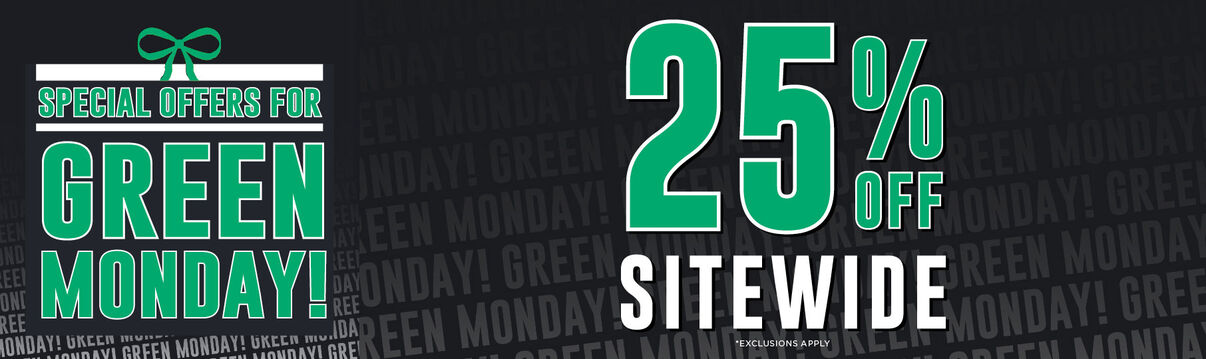 2019 Green Monday Sale! 25% off sitewide