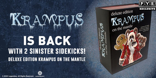 FYE Exclusive:  Krampus Is Back With 2 Sinister Sidekicks! Deluxe Edition Krampus On The Mantle!  Shop Now!