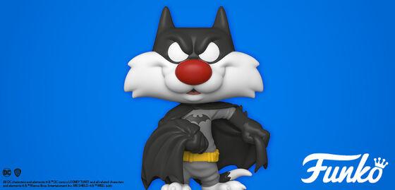 Exclusive Funko Pop Looney Tunes:  Sylvester As Batman.  Shop Now!