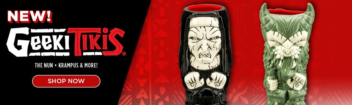 New!  Geeki Tikis Exclusive Horror Mugs: The Nun; Krampus & More!  Shop Now!
