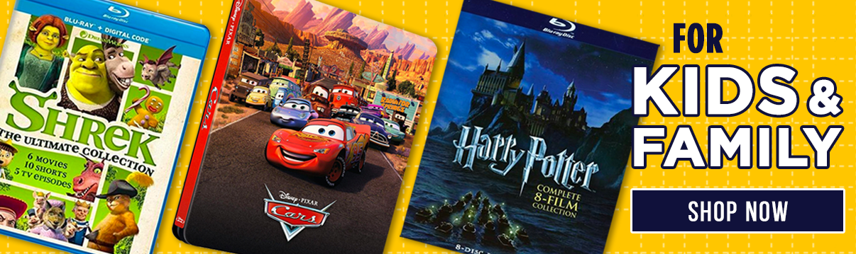 Movies For Kids and Family! Shrek, Cars, Harry Potter, and more! Shop Now!