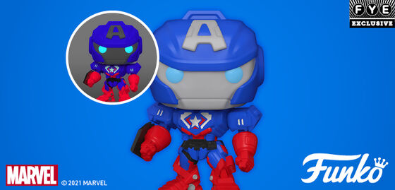 New Funko Pops Avengers: Captain America Mech Strike - Shop Now!