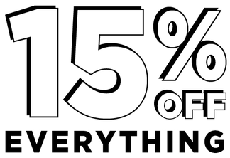 15% off everything (excludes sale, pre-order and exclusives) offer valid 3/23/19 through 3/24/19 eastern standard time online only exclusions apply
