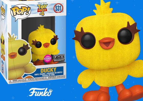 Exclusive Funko Pop Flocked Ducky