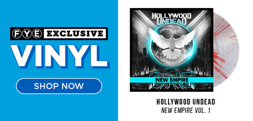 New Exclusive Vinyl: Hollywood Undead - New Empire Vol. 1 [Exclusive Clear Vinyl with Red Splatter] - Now Available