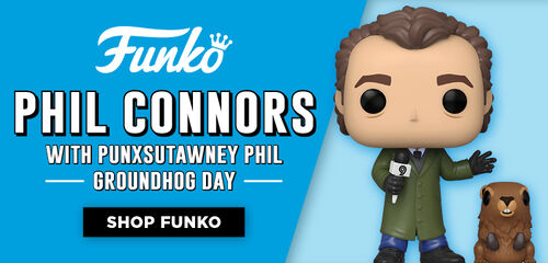 New Funko Pop Featuring:  Phil Connors With Punxsutawney Phil Groundhog Day- Shop Now!