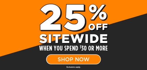 25 % off Sitewide When You Spend $30 or More - Shop Now!