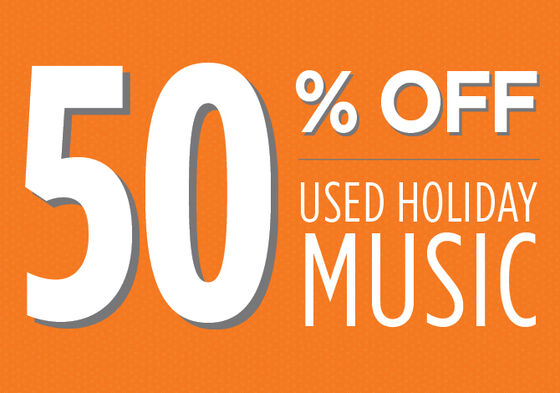 Used Holiday Music 50% off