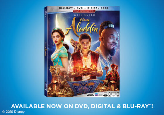 Primary Slider - Aladdin - Now Available on 4k UHD, Blu-ray & Digital