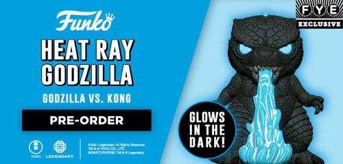 FYE Exclusive Glow in the Dark Heat Ray Godzilla Funko Pop!