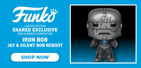 Funko Limited Edition Shared Exclusive 2020 Summer Convention:  Iron Bob, Jay & Silent Bob Reboot.  Shop Now.