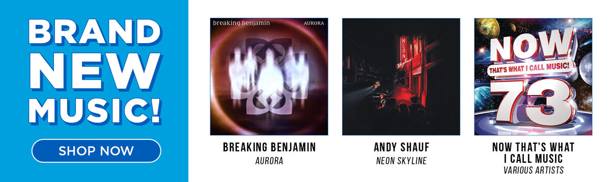 New Music Releases Now Available (featuring: Breaking Benjamin - Aurora; Andy Shauf - The Neon Skyline &  Now 73)