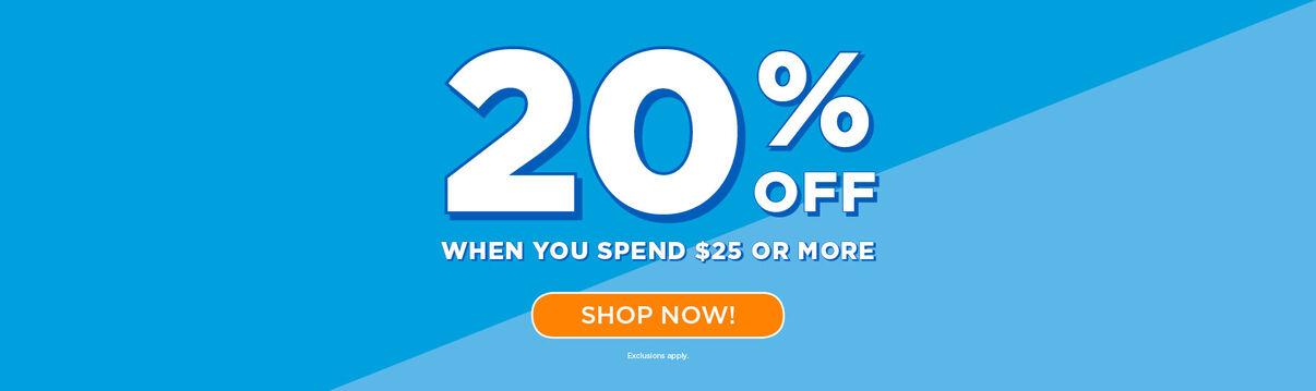 20% off with $25 purchase