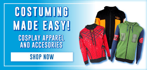 Cosplay Accessories, Apparel & More!  Shop Now!