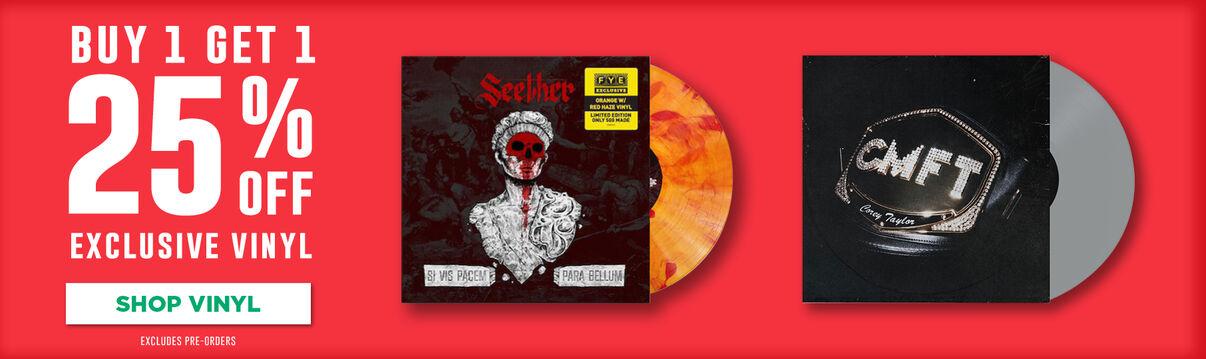 Buy 1 Get 1 25% Off Exclusive Vinyl - Shop Now!