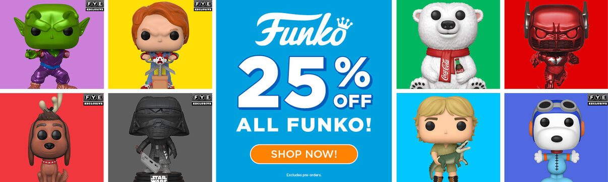 Primary Slider - 25% off all Funko Pop Vinyl - Limited Time Only!