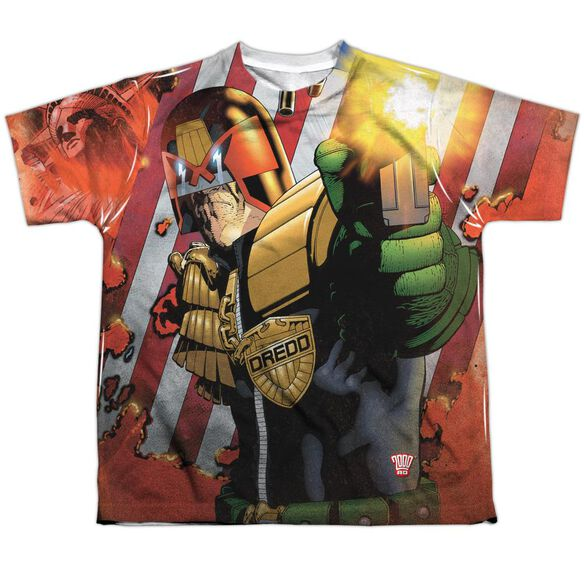 Judge Dredd Democracy Short Sleeve Youth Poly Crew T-Shirt
