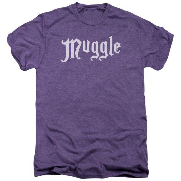 Harry Potter Muggle Short Sleeve Adult Premium Tee Deep Purple T-Shirt